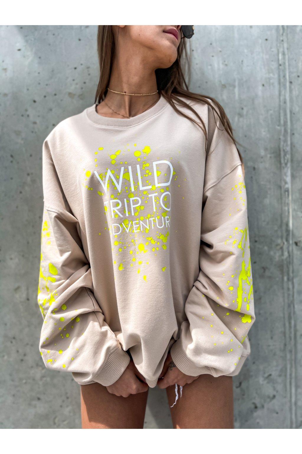 damska oversize mikina wild trip beige eshopat cz 1