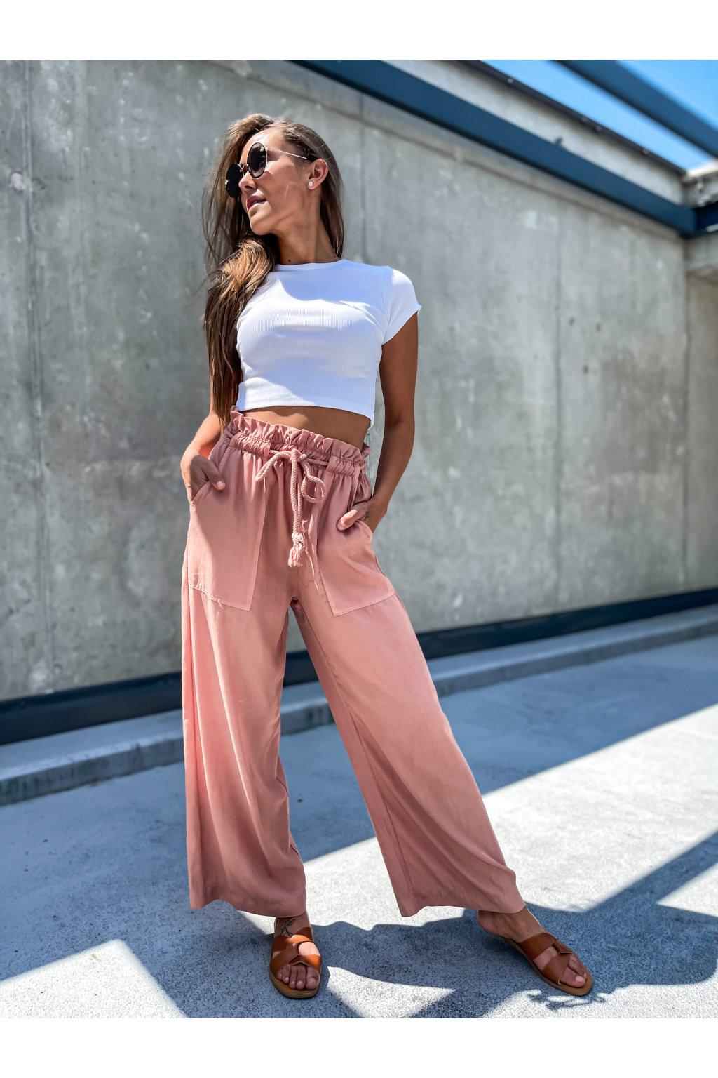 damske kalhoty cannes powder pink eshopat cz 3