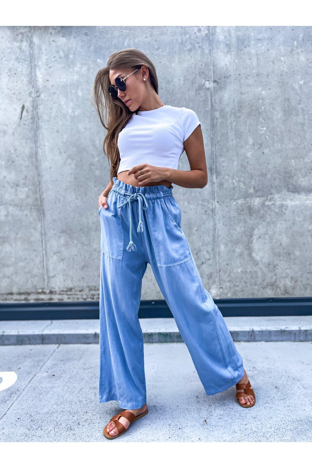 damske kalhoty cannes blue eshopat cz 1