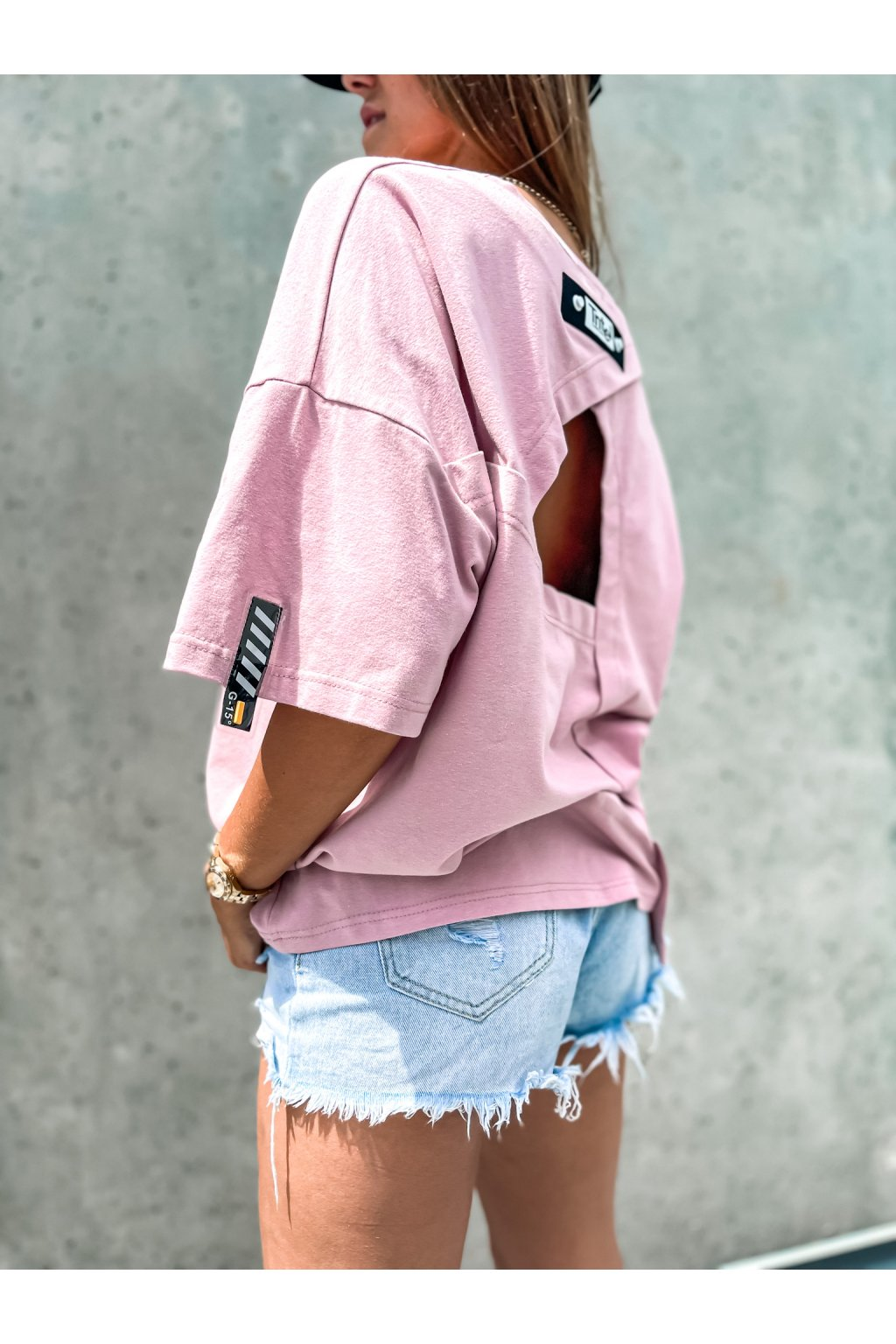 damske oversize tricko street powder pink eshopat cz 1