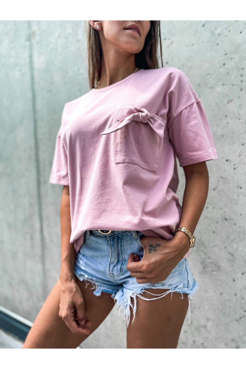 damske tricko s kapsou khloe powder pink eshopat cz 1