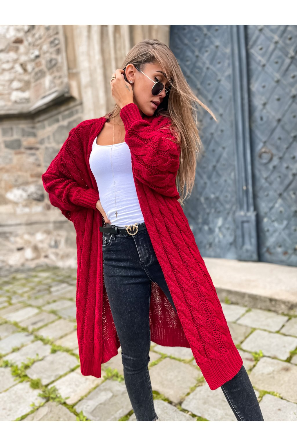 damsky cardigan daily red eshopat cz 7