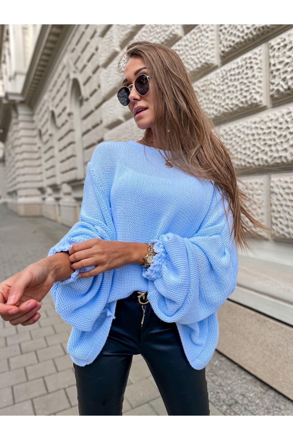 damsky svetr jewel blue eshopat cz 4