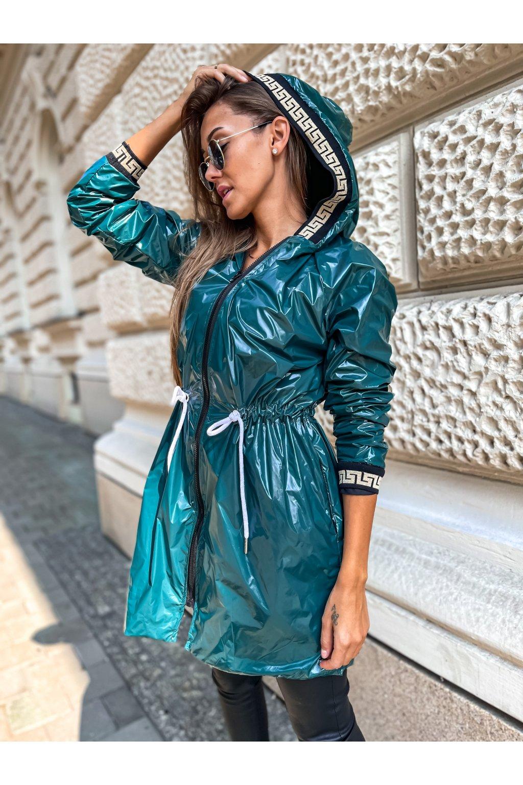 damska prodlouzena bunda verra smaragd eshopat cz 1