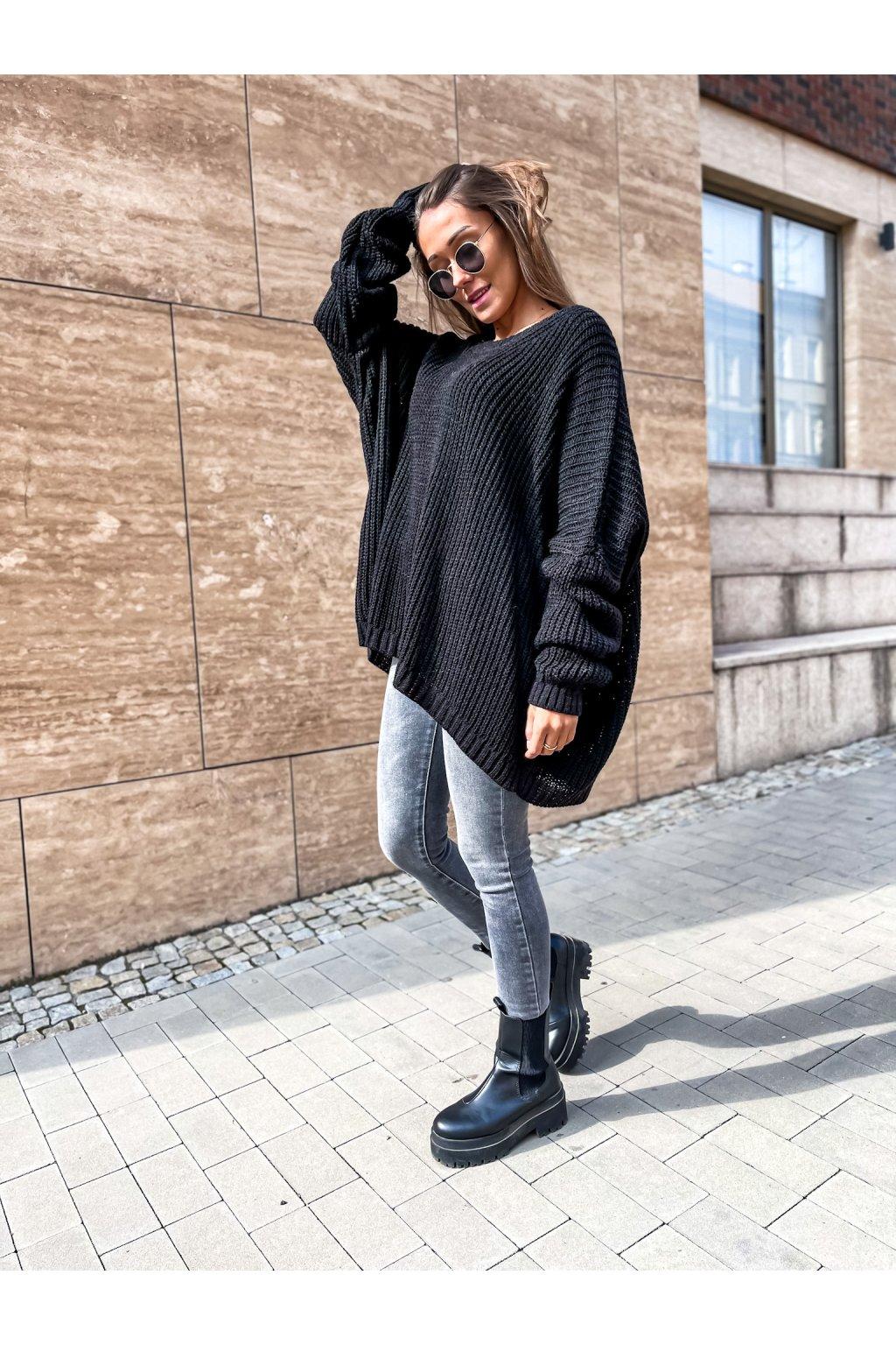 damsky oversize svetr annie black eshopat cz 4