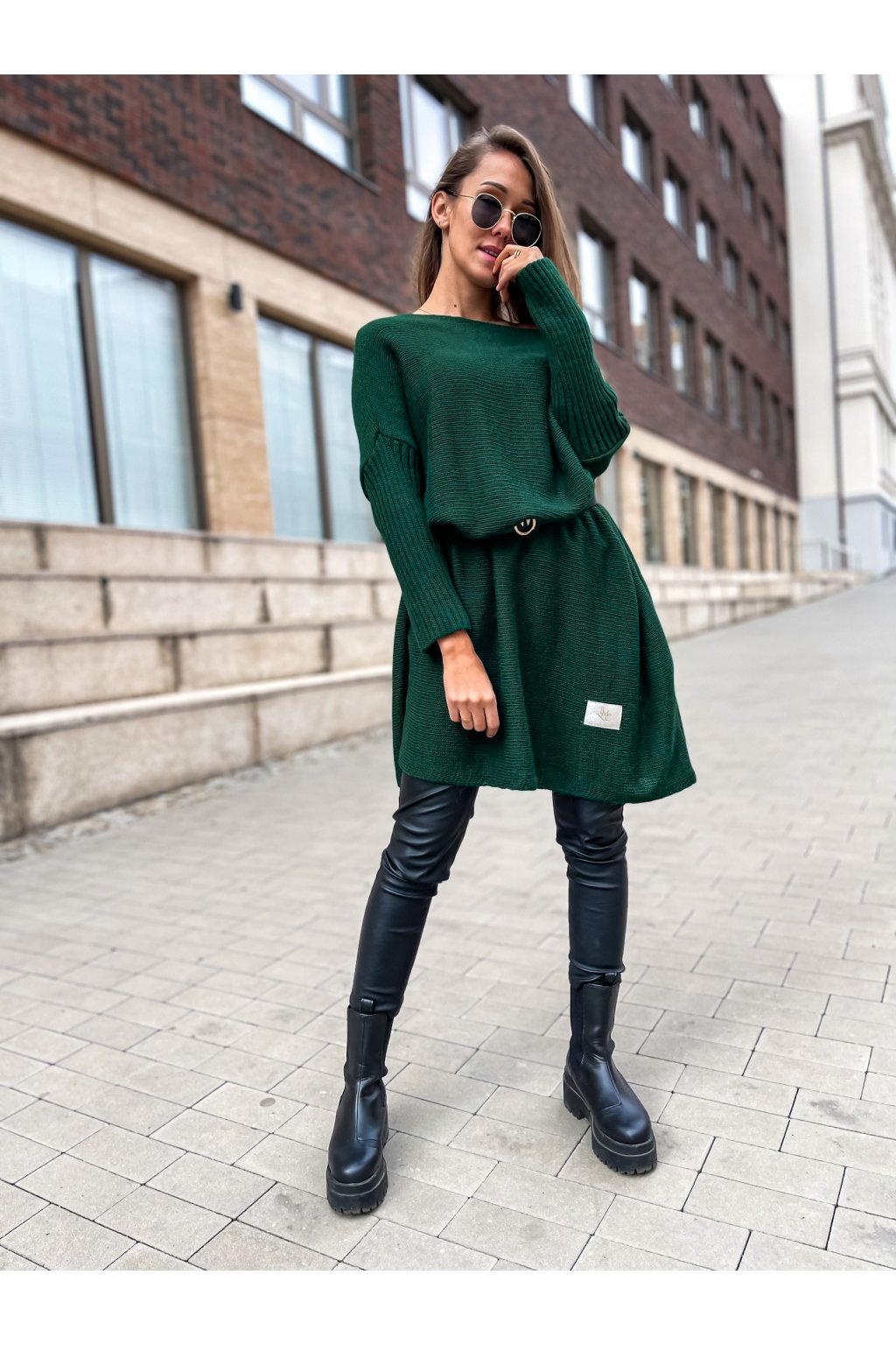 damsky svetr long smaragd eshopat cz 1