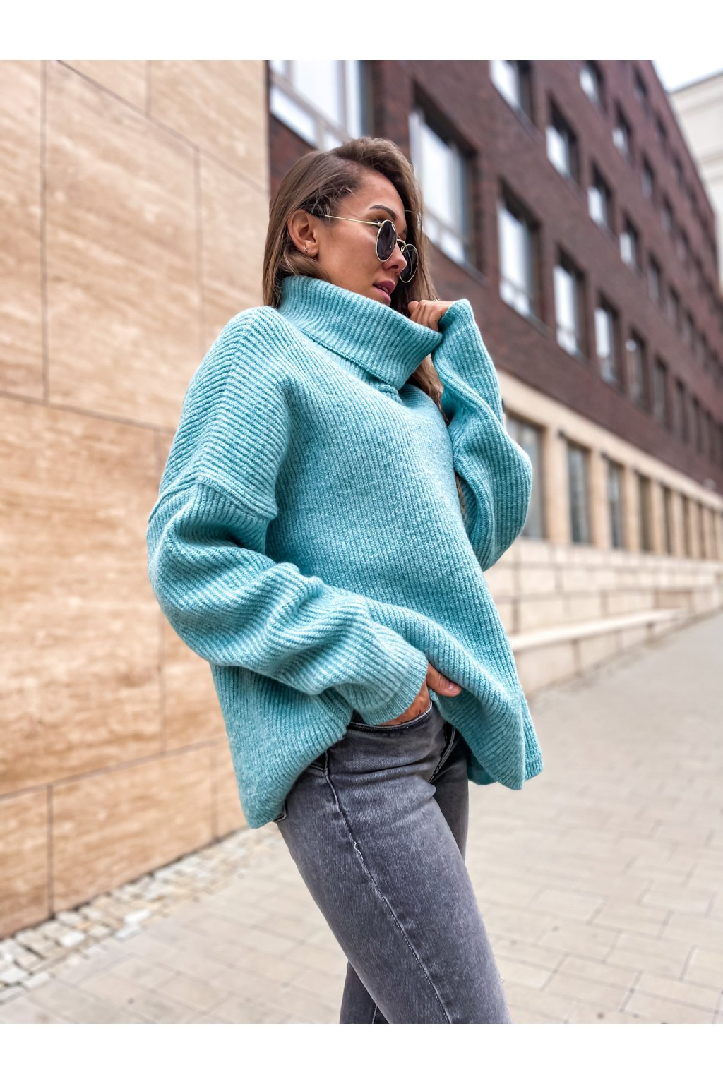 damsky svetr s rolakem ocean blue eshopat cz 7