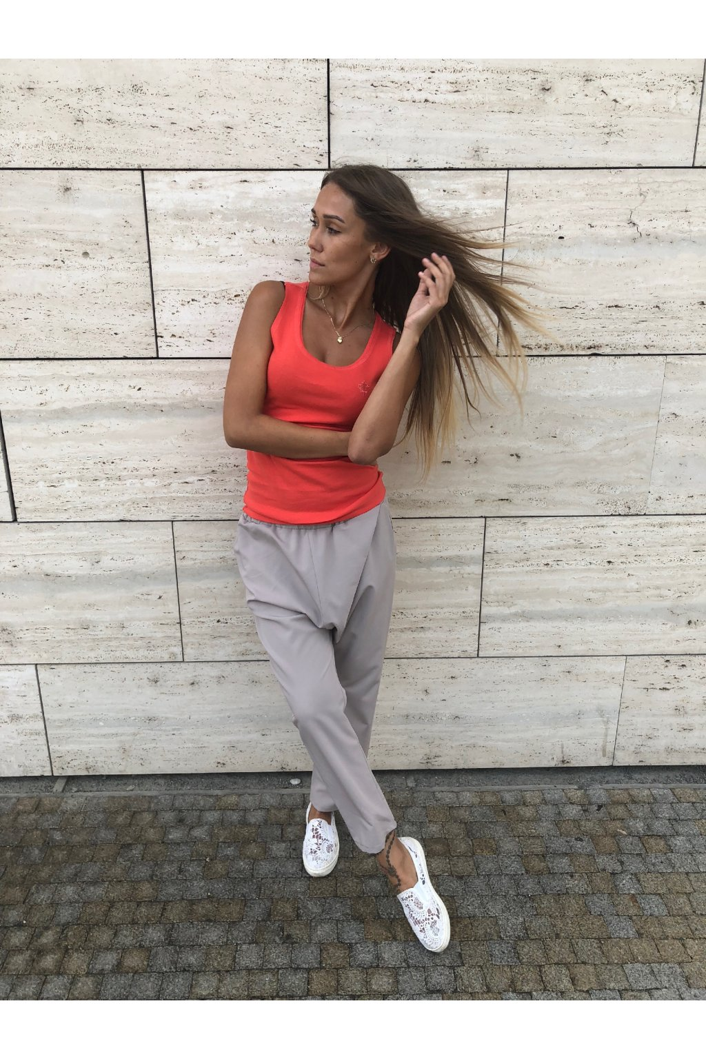 damske kalhoty style beige eshopat cz 1