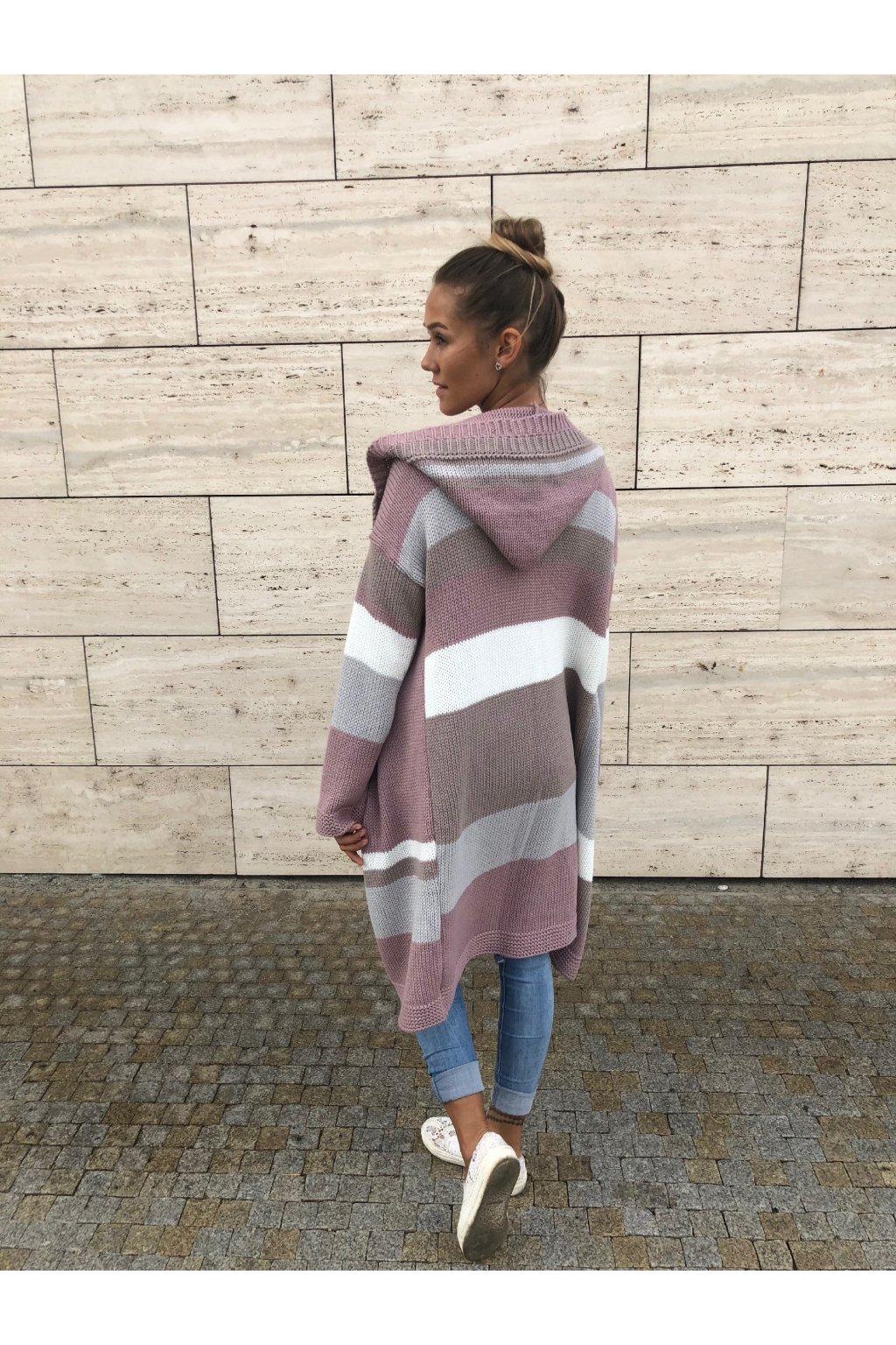 damsky svetr multi stripe lila eshopat cz 4