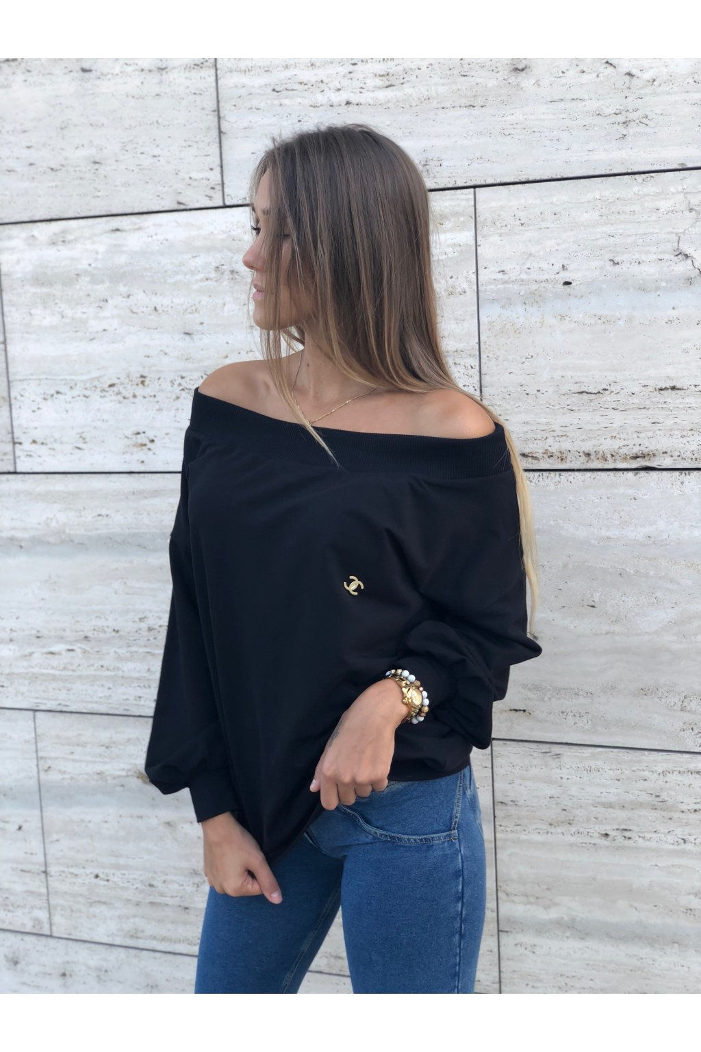 damska mikina luxury black eshopat cz 5