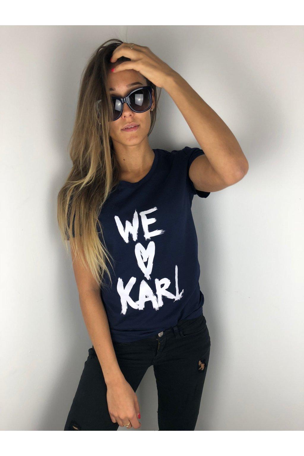 damske tricko karl lagerfeld we love karl navy eshopat cz 1