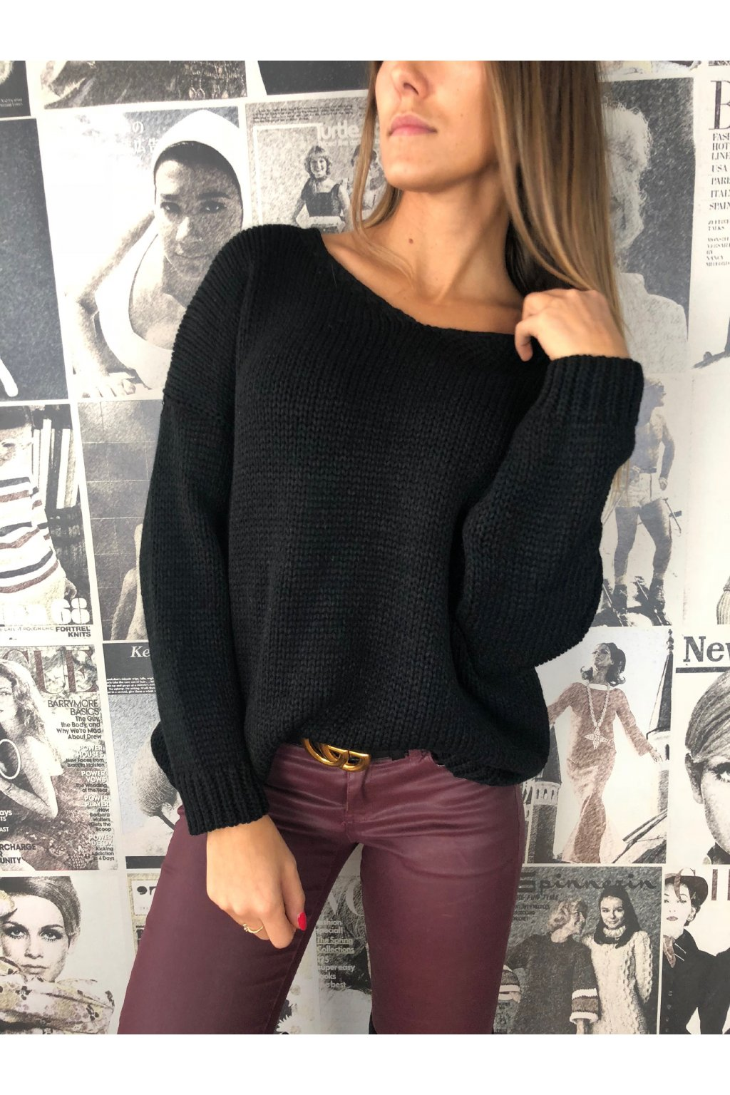 damska svetr v classic black eshopat cz 1