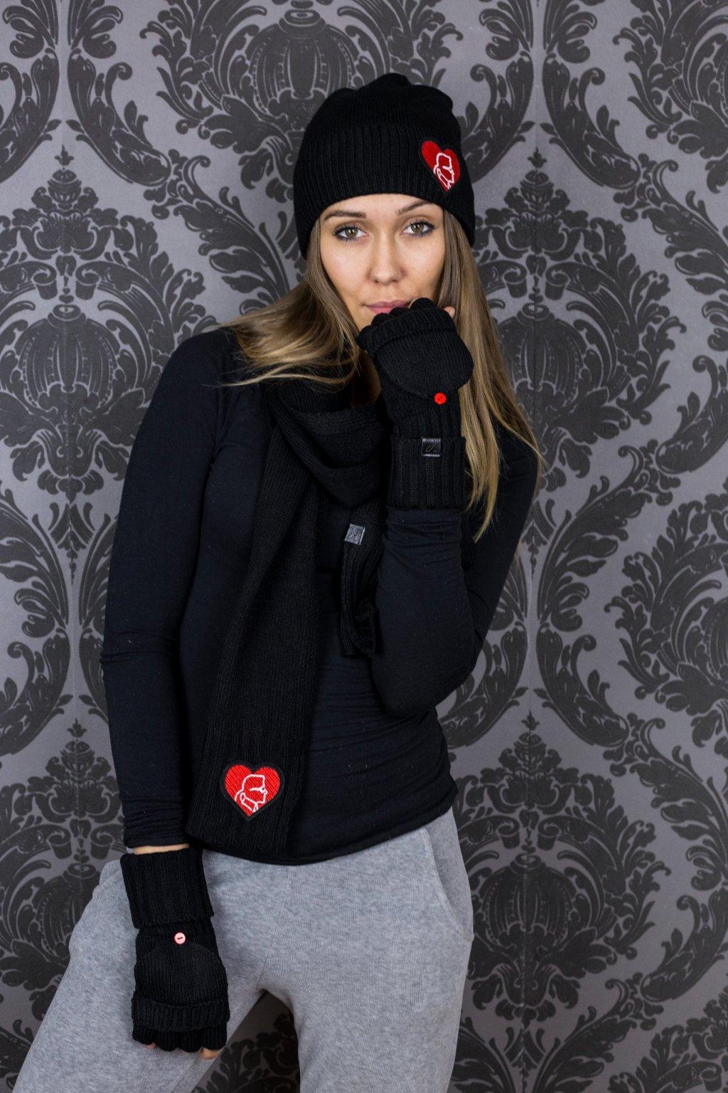 Dámský set Karl Lagerfeld Paris Karl King of Hearts Cold Weather Set Black  Barva  Bílá 5a3e87078c