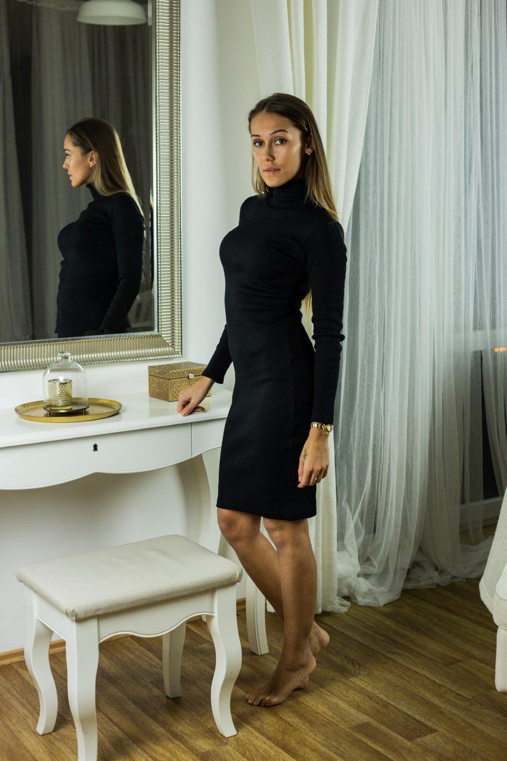 damske rolakove saty kylie black eshopat cz 1