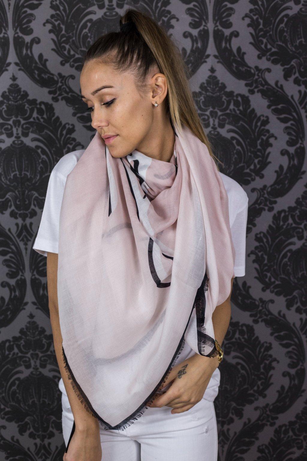 damsky satek karl lagerfeld signature scarf quartz eshopat cz 3