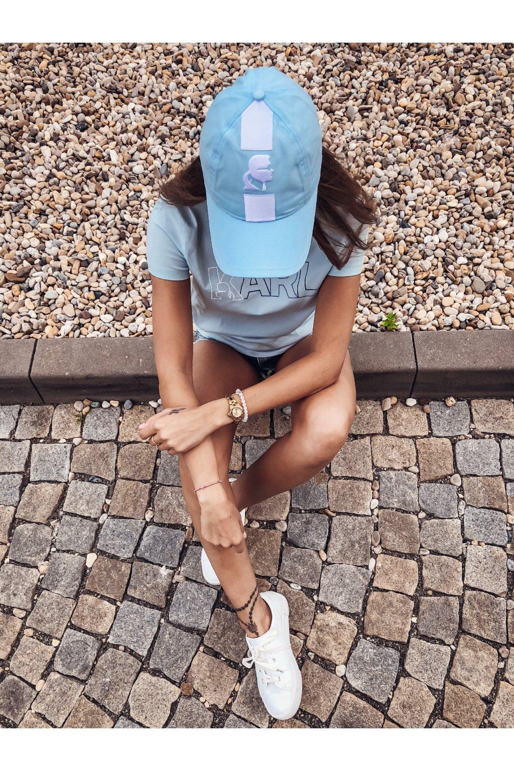 eshopat cz ksiltovka karl lagerfeld athleisure cap blue