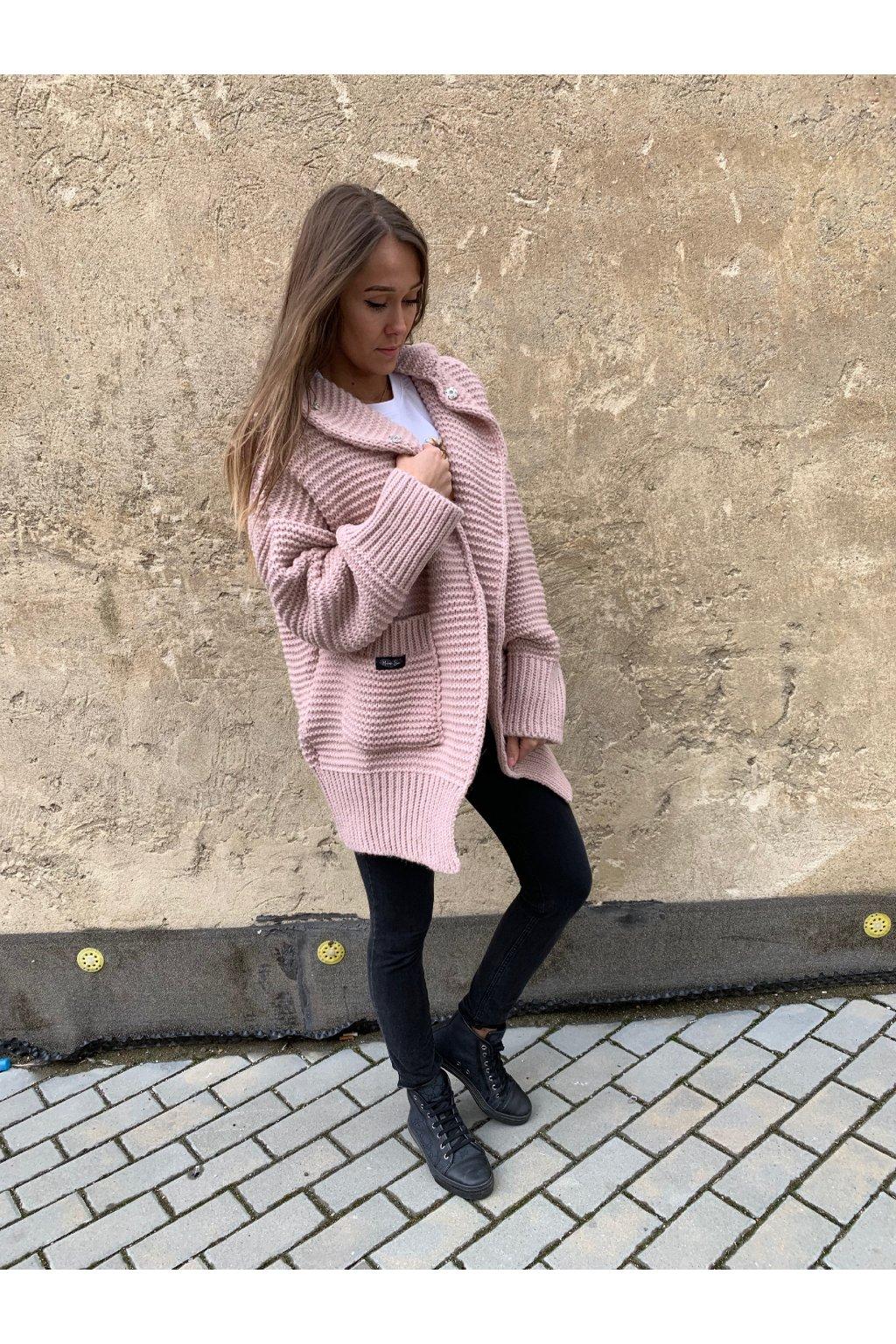 svetr maxi powder pink eshopat cz 4