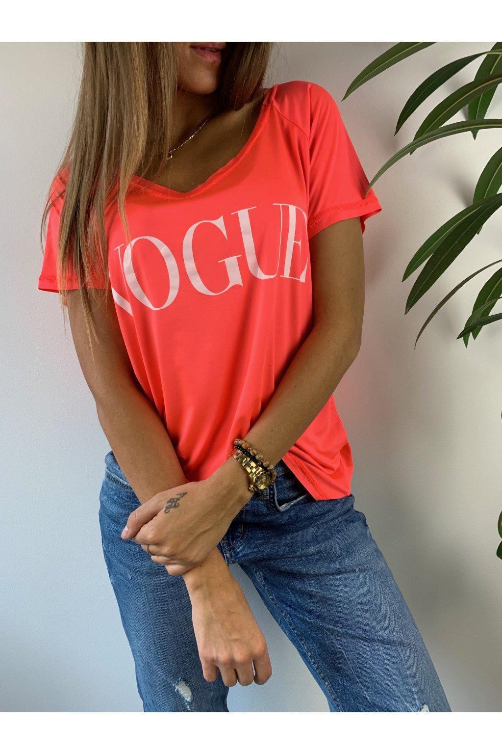 52c52f1ddbda Eshopat Dámské tričko Vogue Neon Orange
