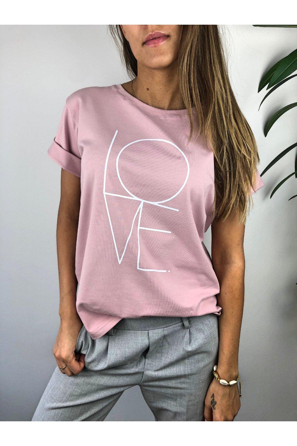 damske tricko love rose eshopat cz 1