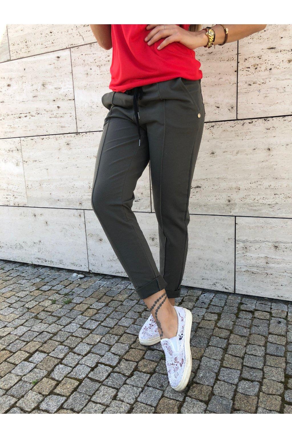 damske teplakove kalhoty love khaki eshopat cz 1