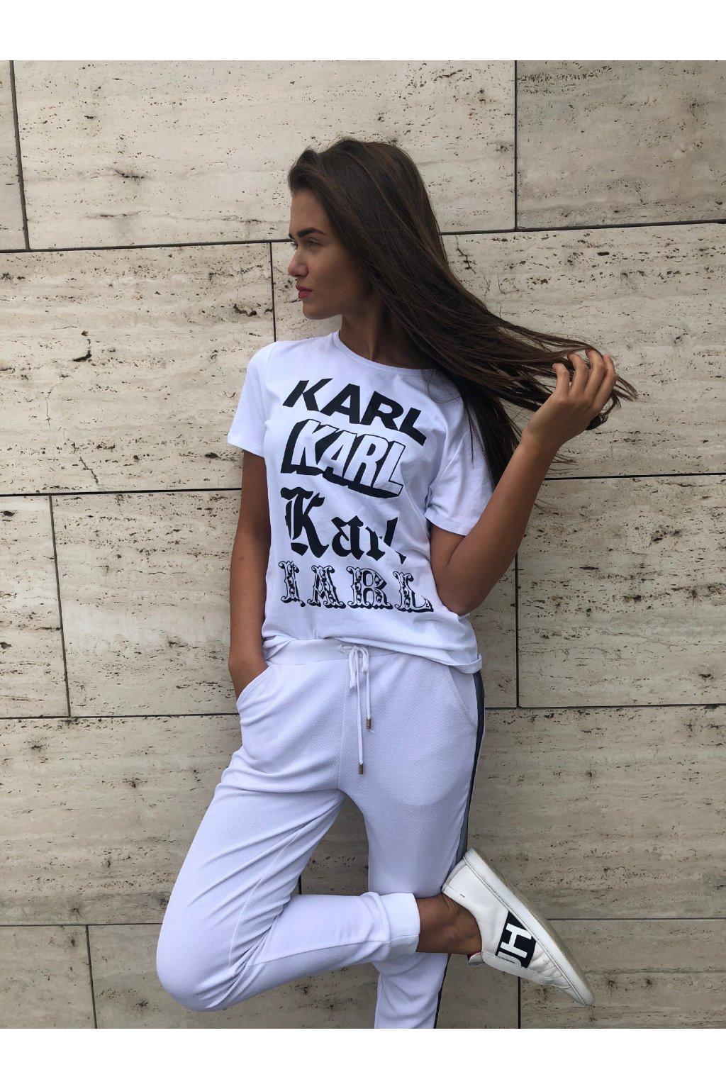 929e2ed67a4e Dámské tričko Karl Lagerfeld Karl Newspaper Tee White Velikost  L