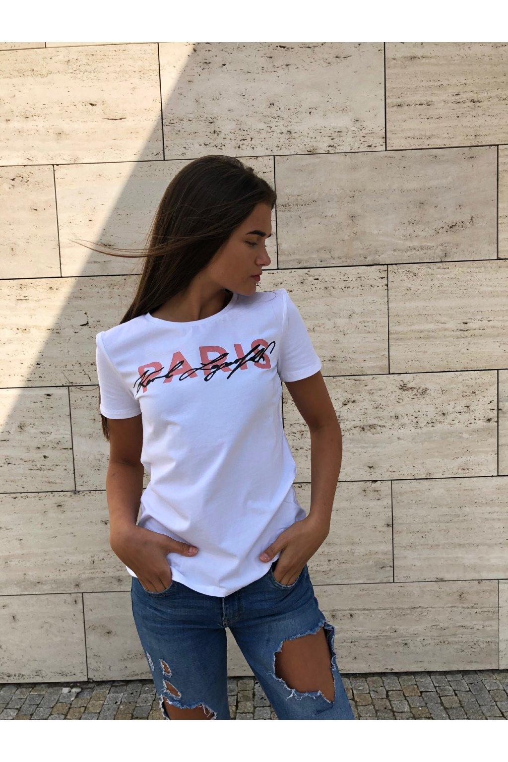 38ec9126fc4e Dámské tričko Karl Lagerfeld Karl Script Graphic T-shirt White Himalyan  Velikost  XS