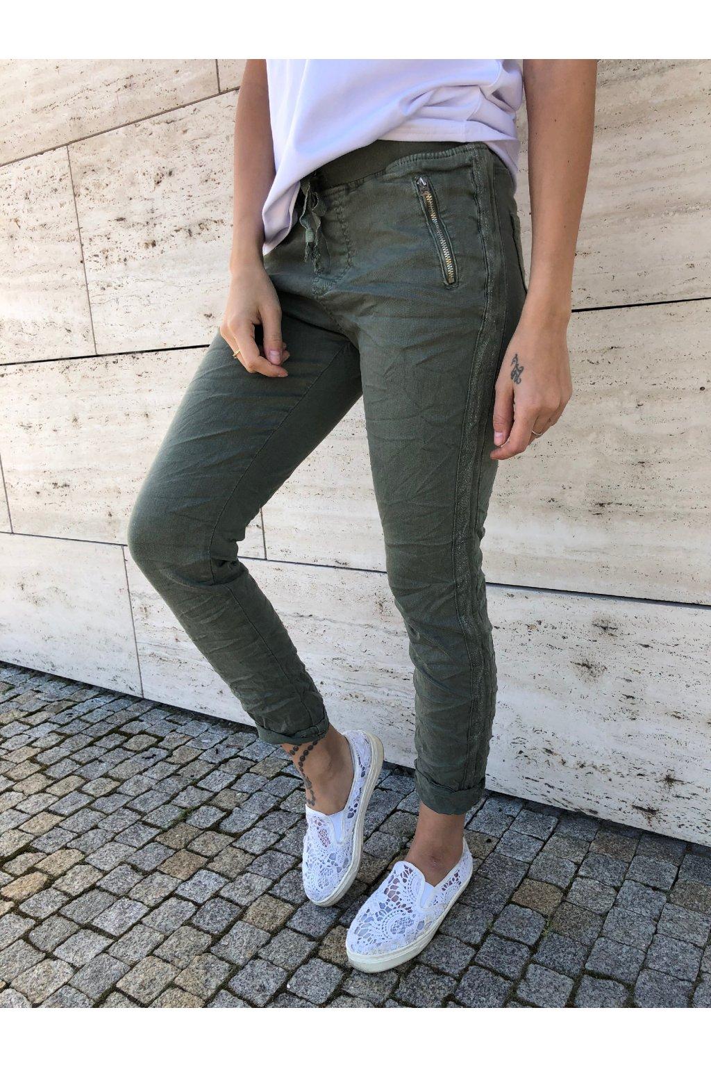 damske kalhoty super khaki eshopat cz 1