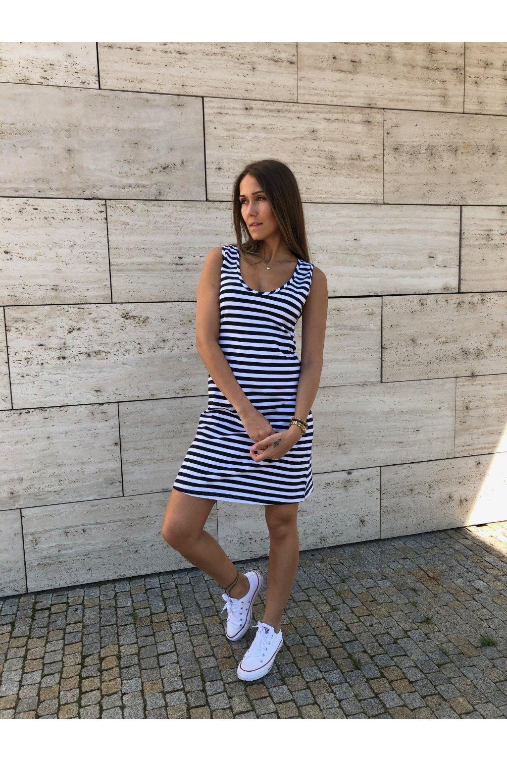 damske saty sport stripe navy eshopat cz 1