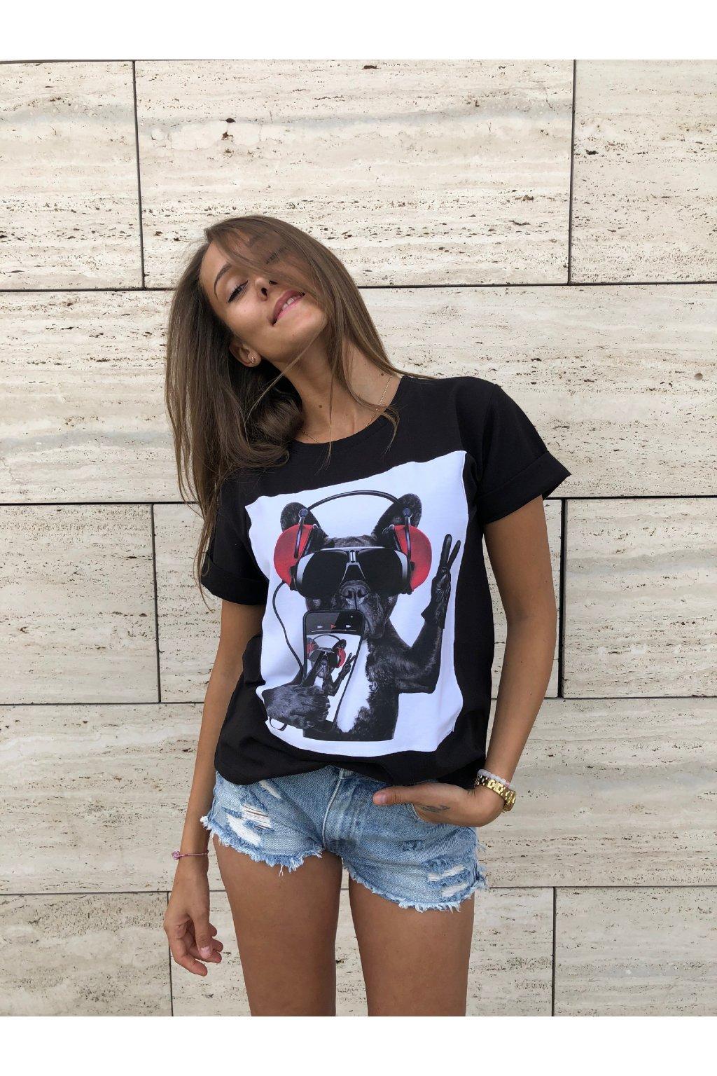 damske tricko peace dog black eshopat cz 1