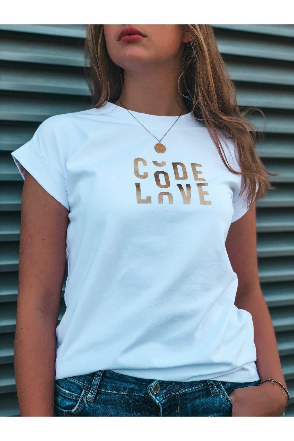damske tricko code love white eshopat cz 2