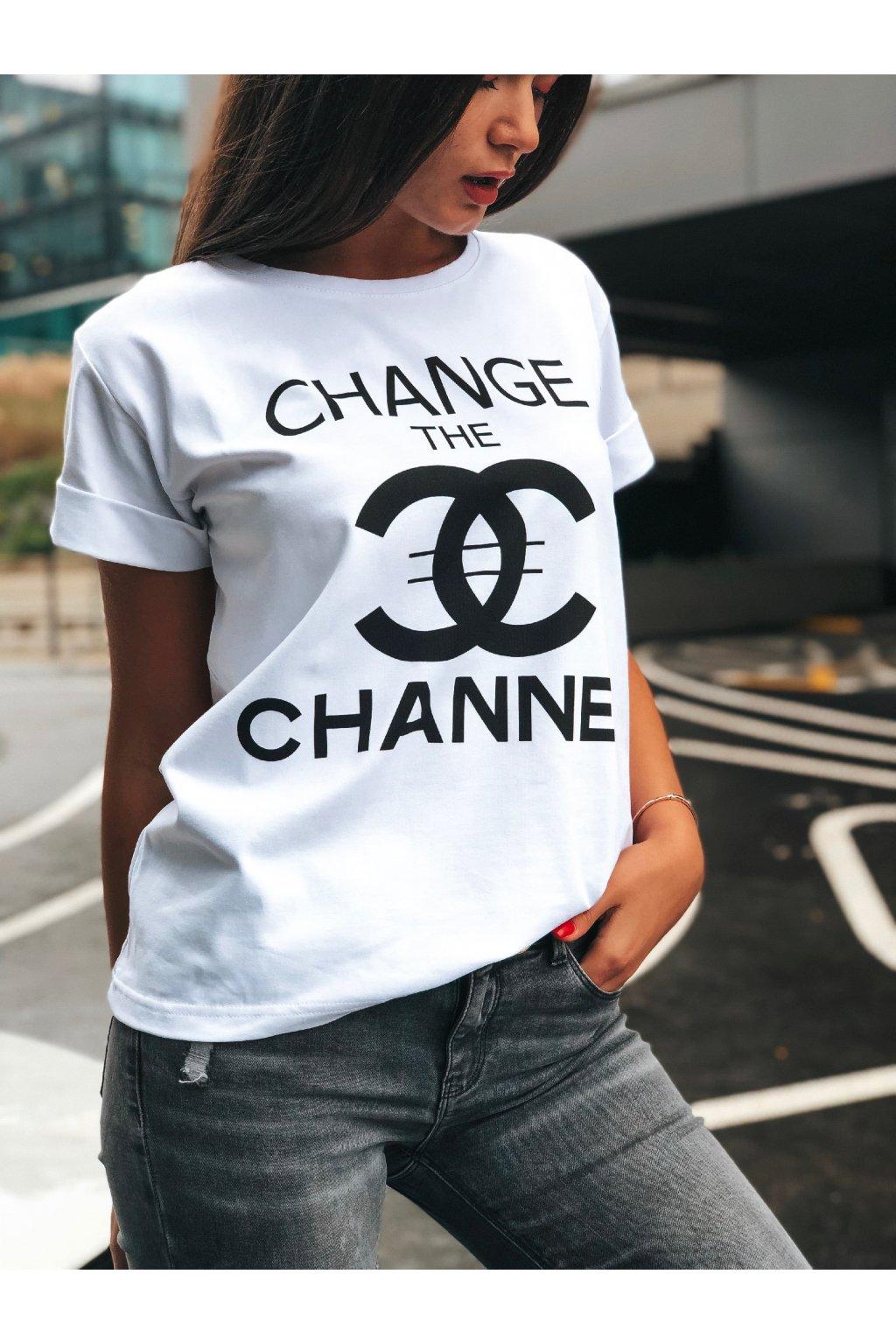 damske tricko change the channel white eshopat cz 1
