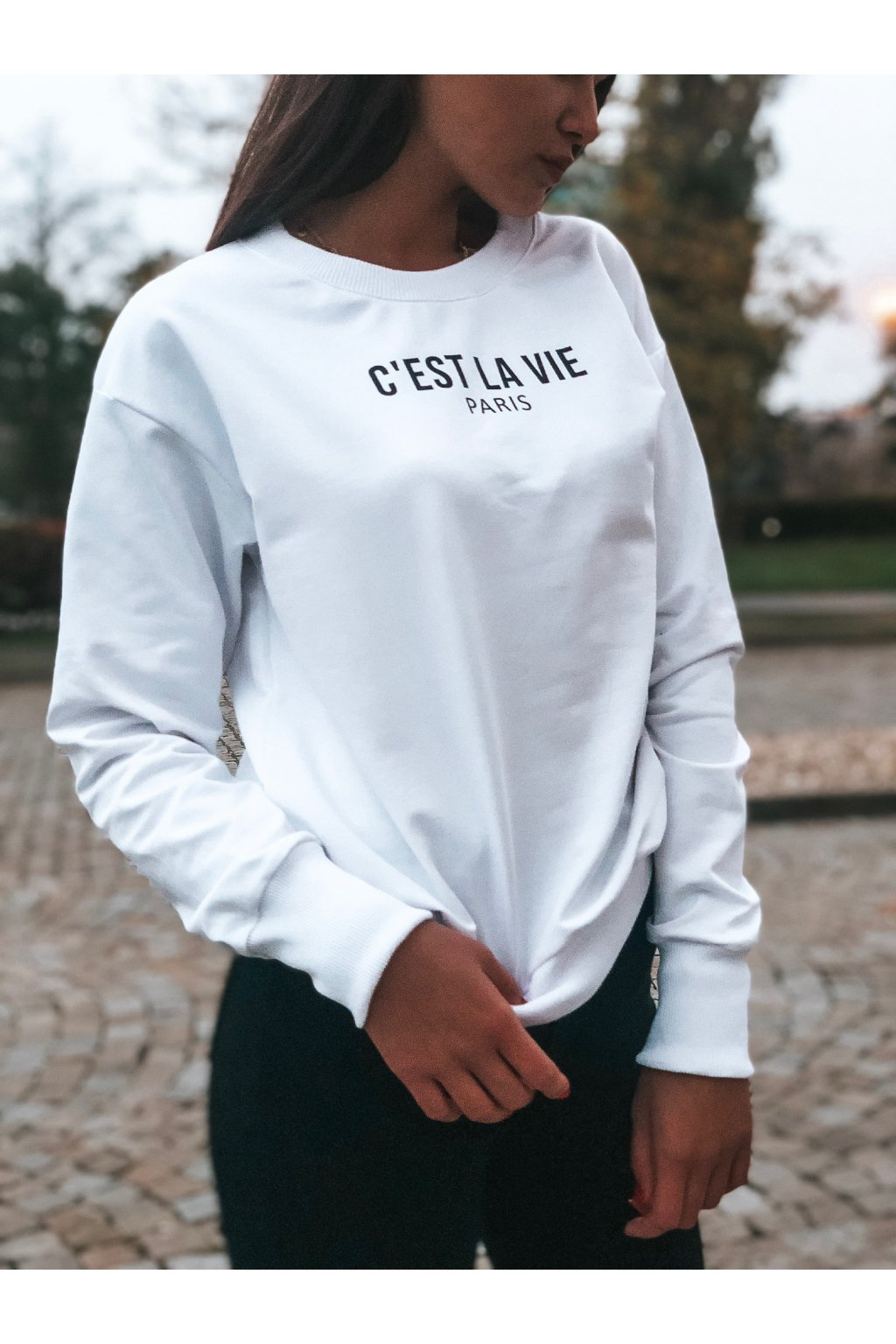 damska mikina c est la vie paris white eshopat cz 1