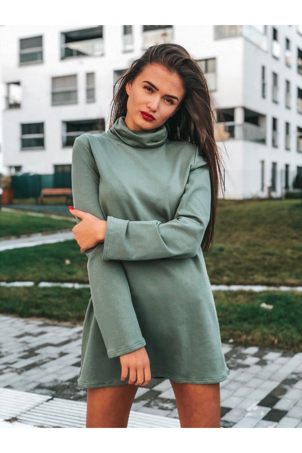 damske rolakove saty sofia pastel green eshopat cz 1