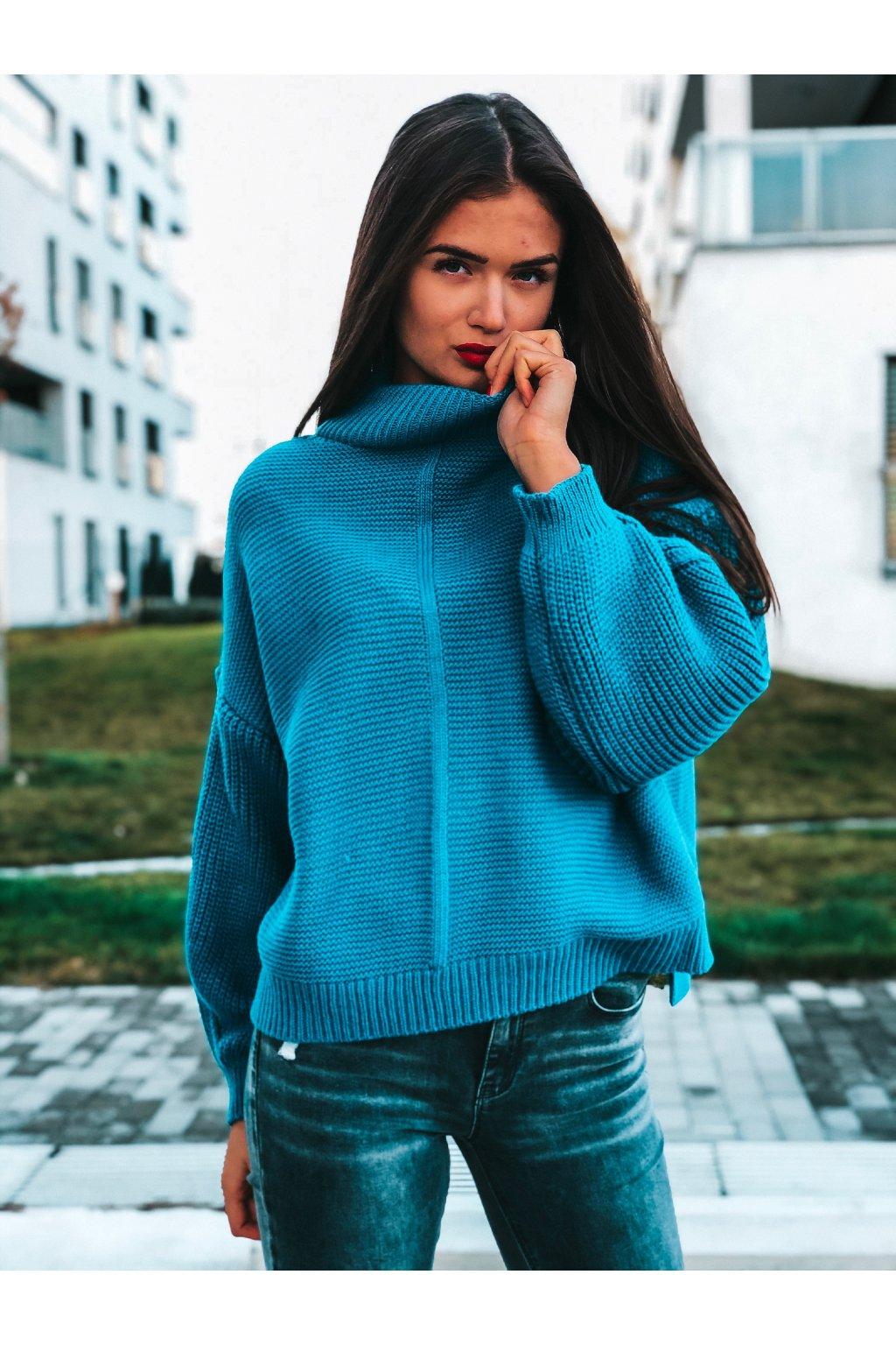 damsky svetr sonya sea blue eshopat cz 2