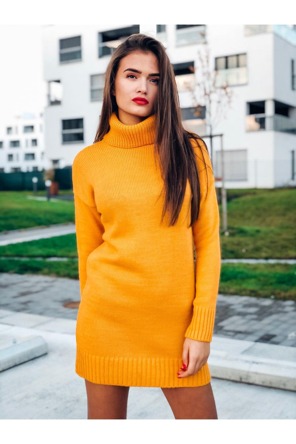damske svetrove saty aria mustard eshopat cz 1