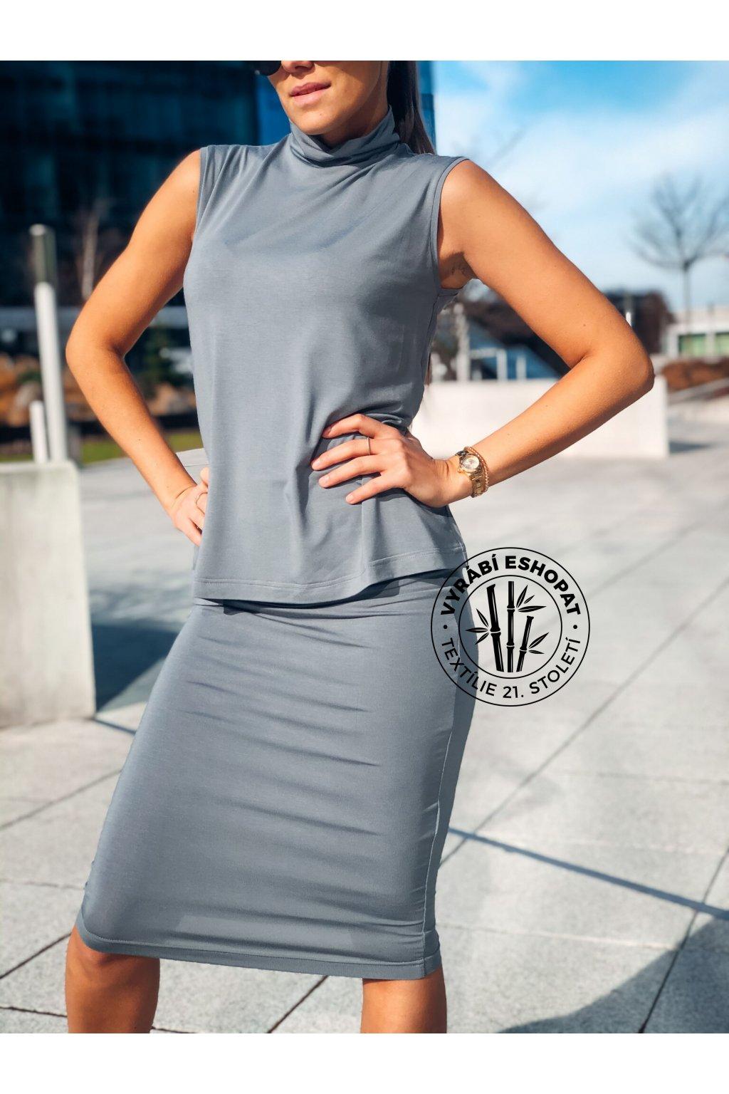 eshopat cz damska sukne z bambusu grey