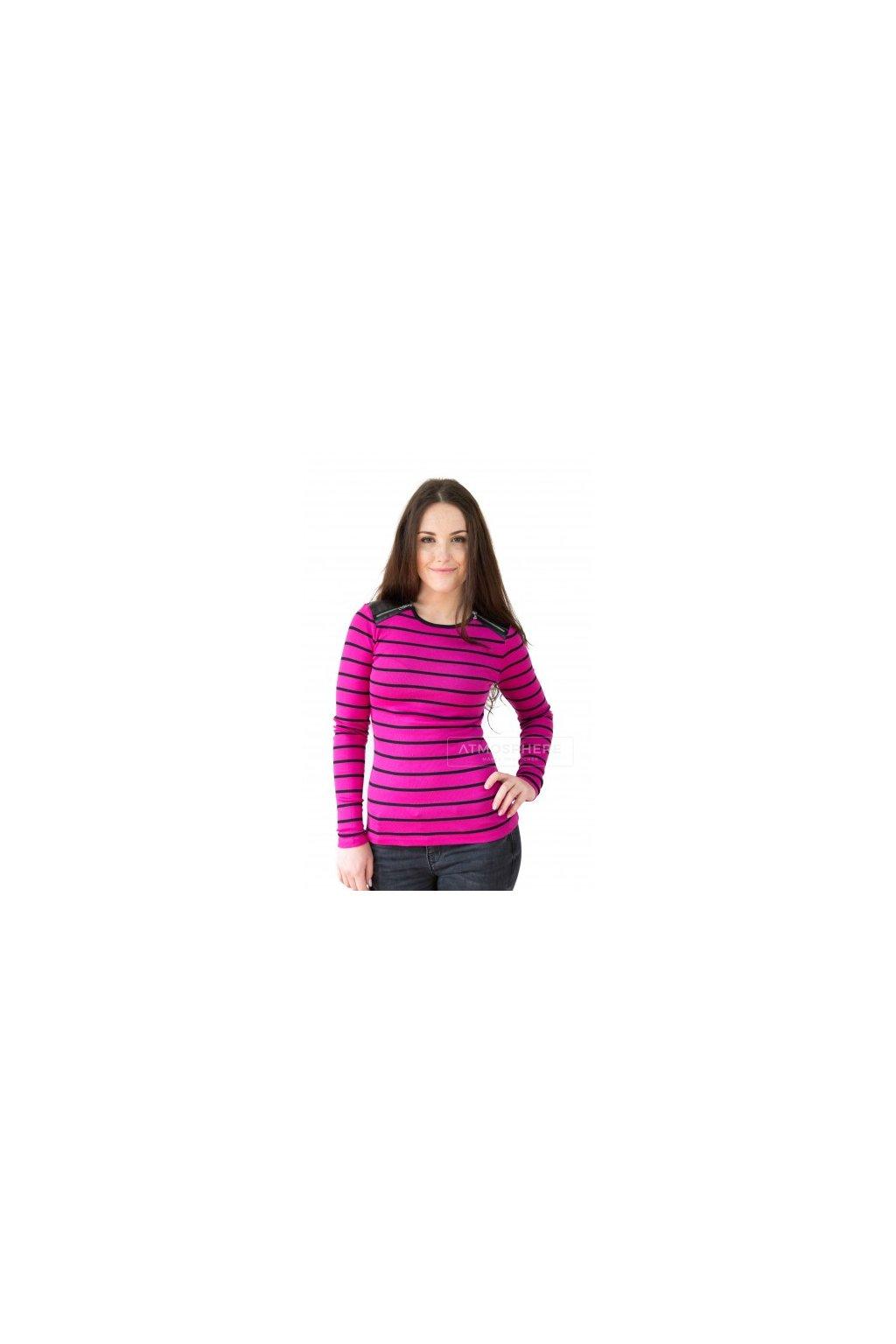 Dámské tričko Ralph Lauren Narkissa Stripe Pink