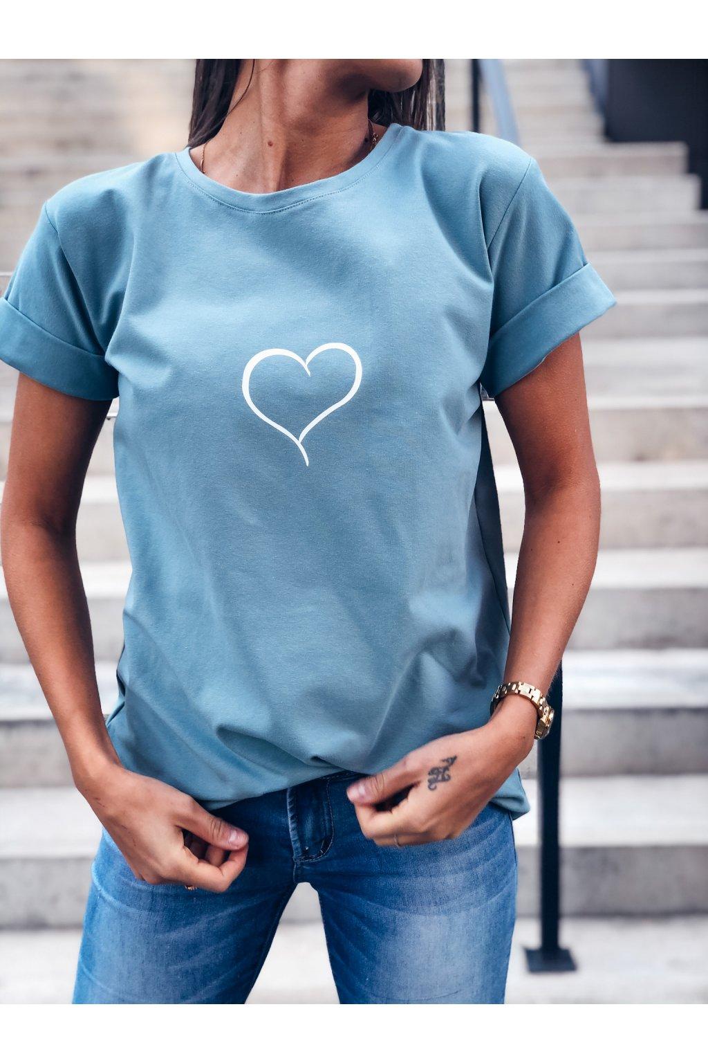 damske tricko heart pale blue eshopat cz 1