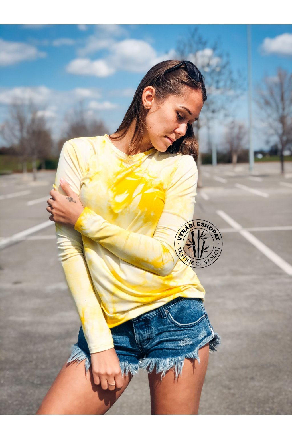 eshopat cz tricko bamboo long sleeve batic yellow