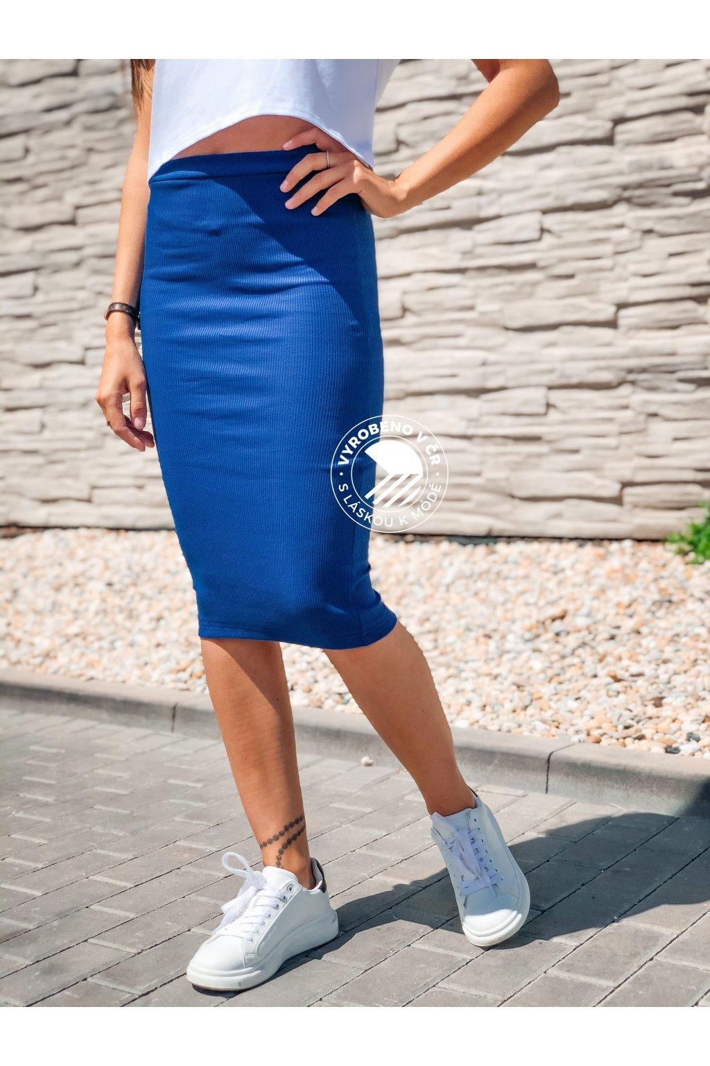 eshopat cz damska zebrovana sukne lisa eletric blue