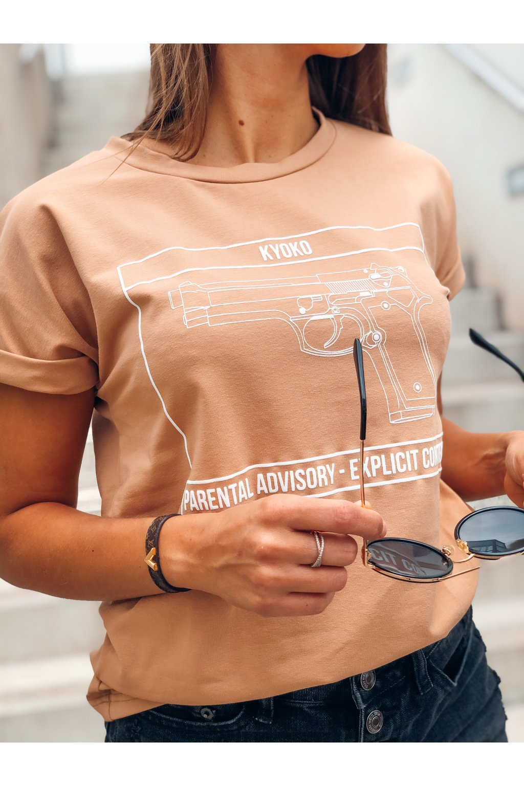 damske tricko pistol caramel eshopat cz 1
