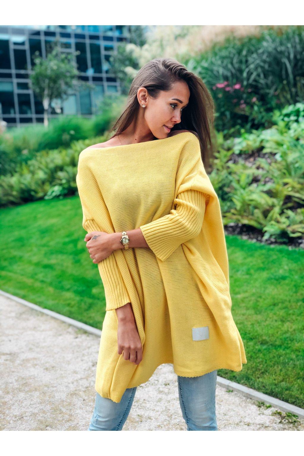 damsky svetr long yellow eshopat cz 5