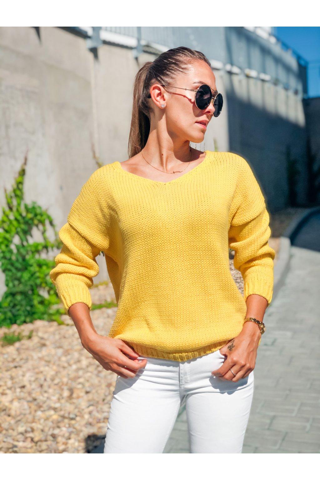 damsky svetr v classic yellow eshopat cz 4