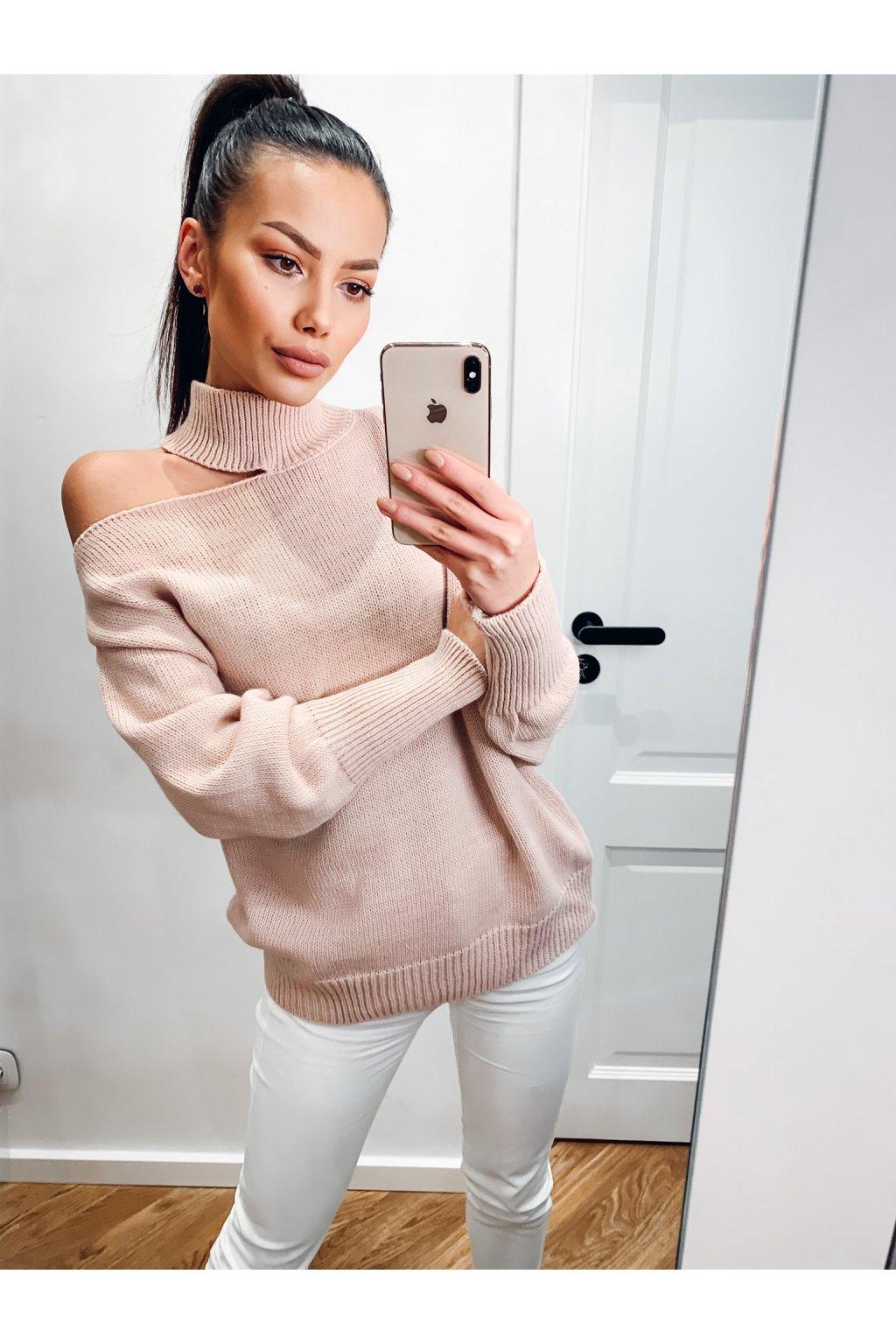 damsky svetr maya powder pink eshopat cz 1