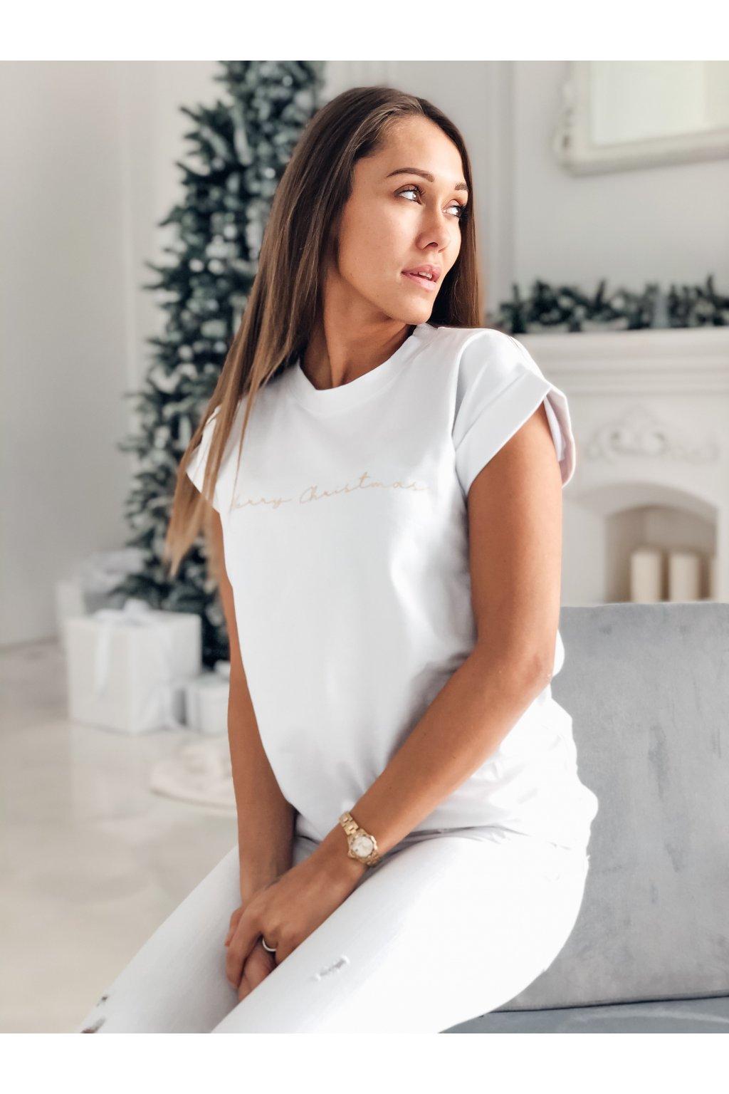damske tricko merry christmas white eshopat cz 3