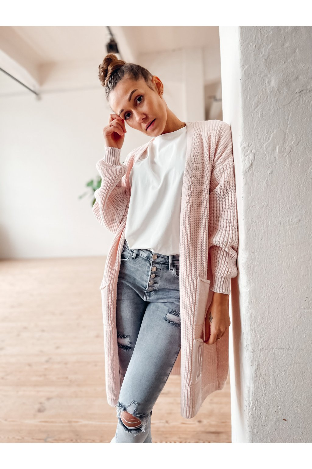 damsky cardigan dream light pink eshopat cz 5