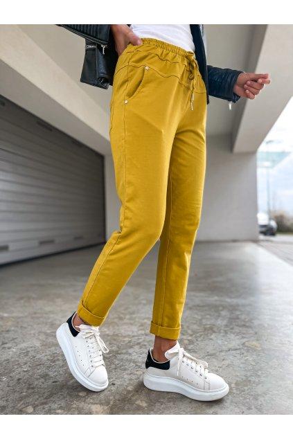 damske teplakove kalhoty pascall mustard eshopat cz 1