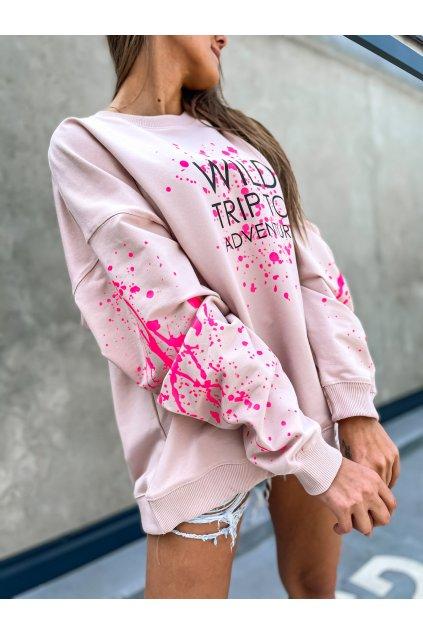 damska oversize mikina wild trip powder pink eshopat cz 1