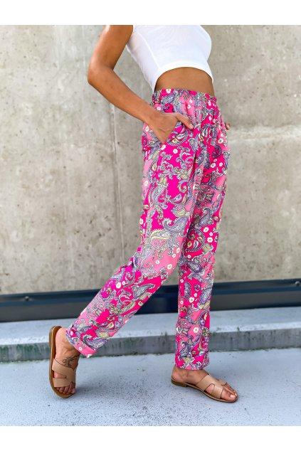 damske satenove kalhoty oriental pink eshopat cz 1
