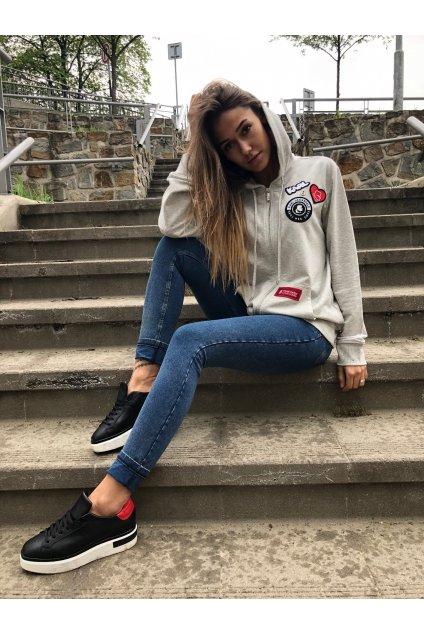 karl lagerfeld paris hoodie grey eshopat cz 1